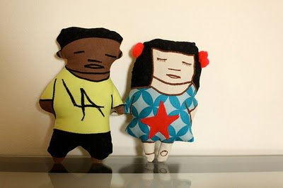 GhettoGirl and PapiChulo Plushies